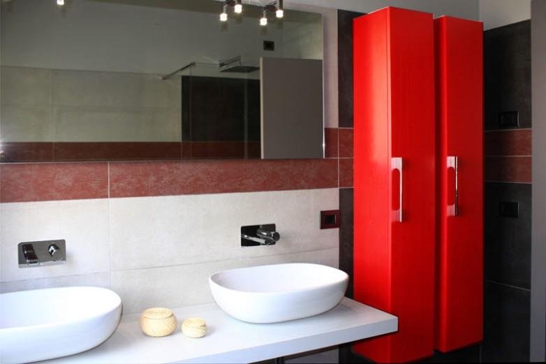 Bagno rosso mobiliarredo for Bagno rosso